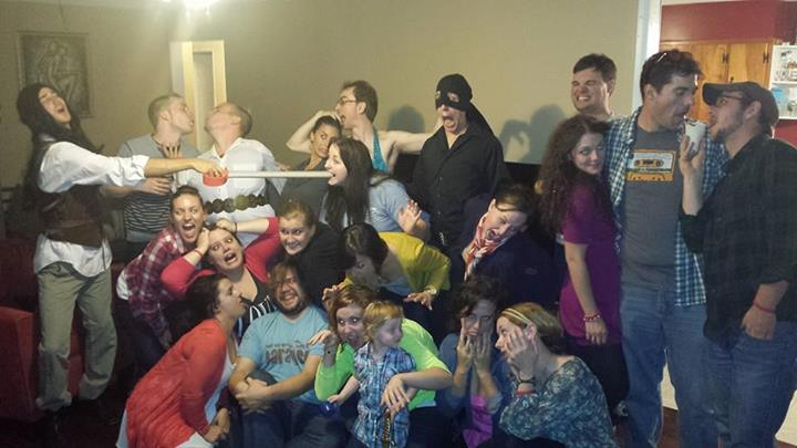 These are my people, the night before our wedding. We are insane, and we are insanely in love with each other.